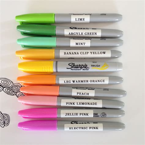 sharpie pen colors sharpie color chart search color swatch