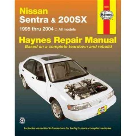 service manual where to buy car manuals 2004 chevrolet classic security system service nissan sentra and 200sx 1995 2004 haynes service repair manual sagin workshop car manuals