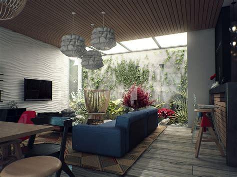 skylight over indoor courtyard interior design ideas 简欧客厅电视背景墙设计 土巴兔装修效果图