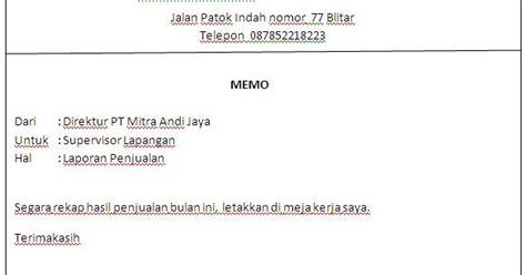 contoh memo resmi yang benar utuy semrawut