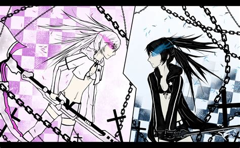 V Anime Rocks by Black Rock Shooter Vs White Rock Shooter By Tichael On