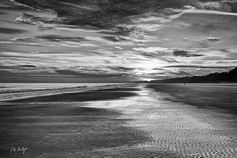 black beaches black and white beach photograph by phill doherty