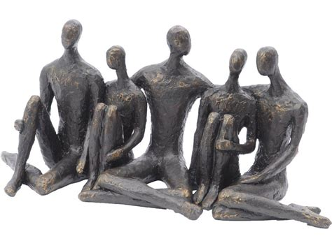 Home Decor Indonesia by Bronze Sitting Friends Sculpture People Sat Ornament