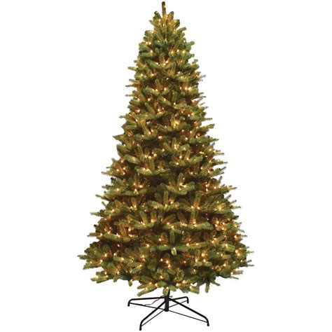 9 ft pre lit mixed balsam fir pe and pvc artificial