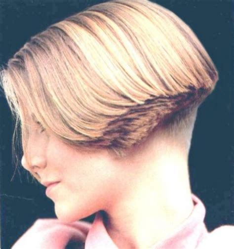 layered buzzed bob hair women clippered nape wedge hairstyles short hairstyle 2013