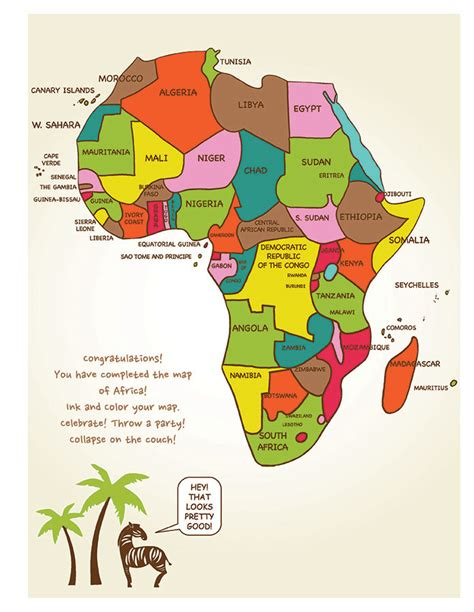 africa map easy draw africa an easy step by step approach artk12