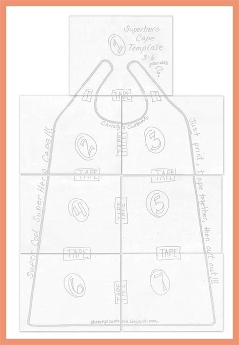 Diy Cape Template pattern for child s cape diy capes printable