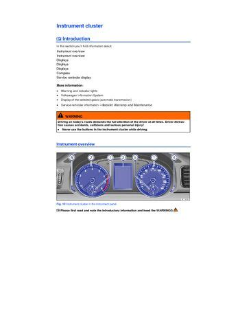 download 2015 volkswagen passat instrument cluster pdf manual 8 pages