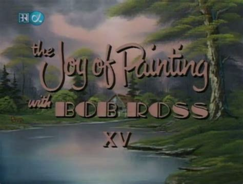 bob ross painting intro what font is used for the intro of the of painting