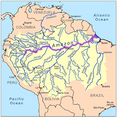 amazon river map excel math amazon the river
