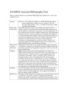 Annotated Bibliography Thesis Best Photos Of Annotated Bibliography Apa Format Owl