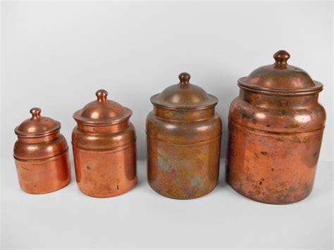 copper canister set kitchen vintage copper canister set kitchen storage