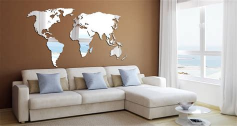 Wall Sticker Map Of The World world map wall mirror dezign with a z
