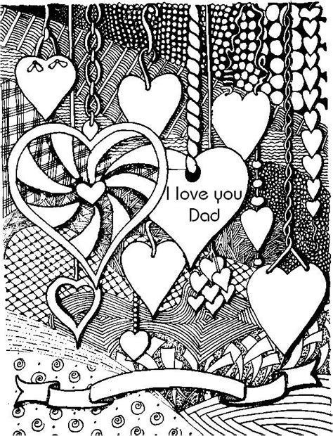 love coloring pages for adults i love you dad adult colouring hearts love zentangles
