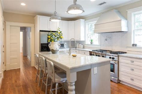 kitchen islands with legs gray beadboard kitchen island with turned legs transitional kitchen