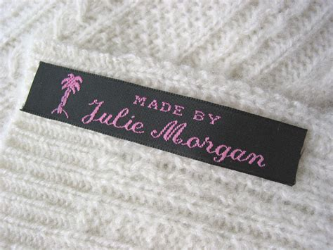 Sew In Tags For Handmade Items - woven clothing labels personalized sew in labels