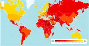 World Map Of Corruption by Is It Time For A Different Look At Mapping Corruption