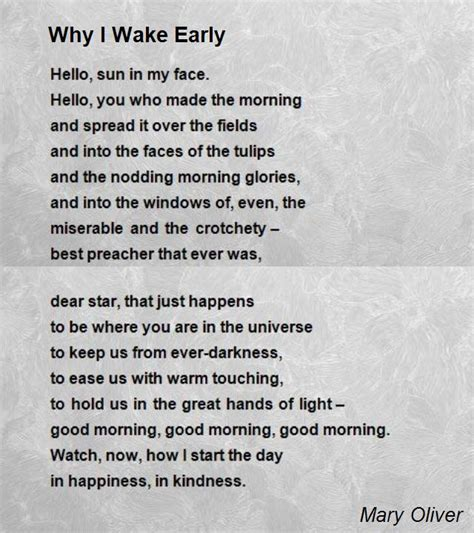 Why I by Why I Early Poem By Oliver Poem Comments