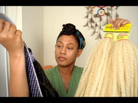 blonde and black marley crochet braids why i m using the crochet braid technique review on