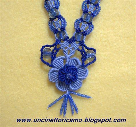 schema fiore macramè collana in macrame macram 232 miei lavori macrame jewelry