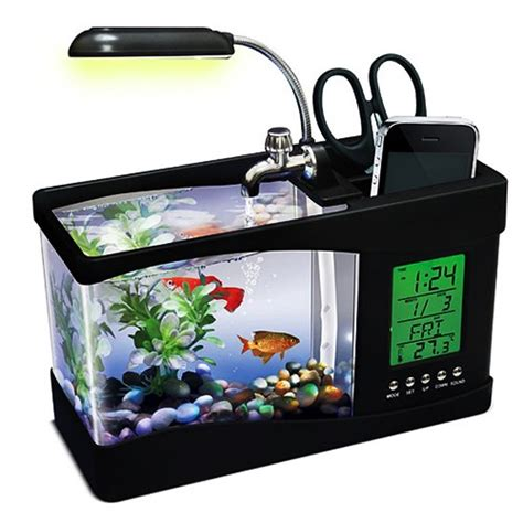 fish tank desk organizer usb desktop aquarium voor 22 50 megagadgets
