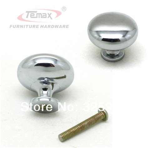 chrome kitchen cabinet knobs new solid 30mm zinc alloy mushroom chrome polished dresser