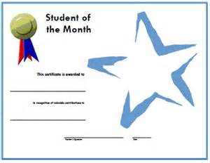 student of the month certificate template certificates for teachers student of the month 8