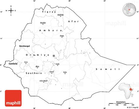 ethiopia map coloring page blank simple map of ethiopia cropped outside