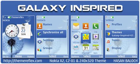 themes galaxy nth galaxy inspired theme for nokia x2 c2 01 240 215 320