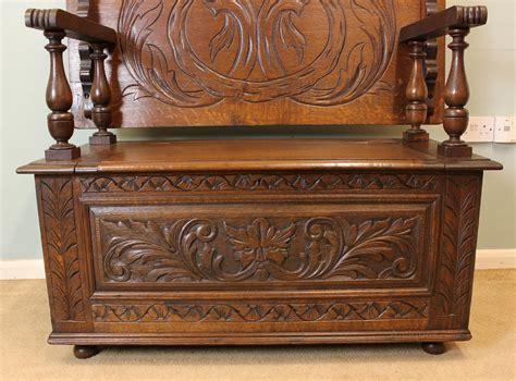 antique oak monks bench antique oak monks bench hall seat settle antiques atlas