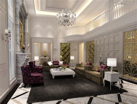 luxury living room 3d house