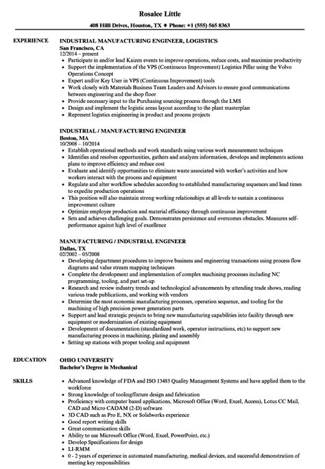 Industrial Engineer Resume Sample by Industrial Engineering Resume Best Resumes