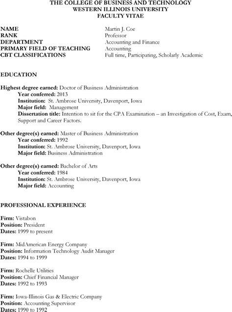 Iowa State Mba Program Cost by College Of Business And Technology Western Illinois