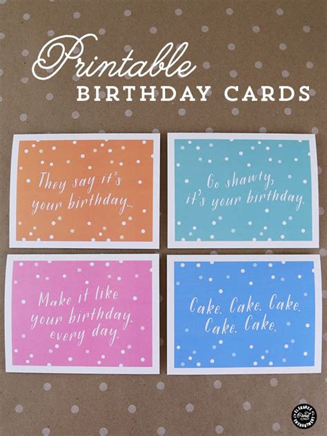 printable birthday cards diy 25 inexpensive diy birthday gift ideas for women