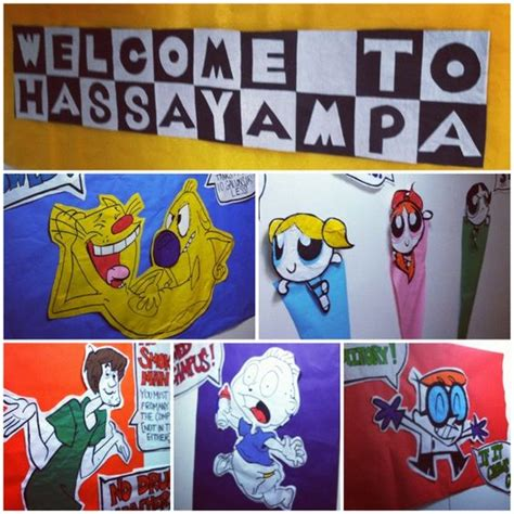 cartoons with themes childhood tv show floor theme decorations i made these