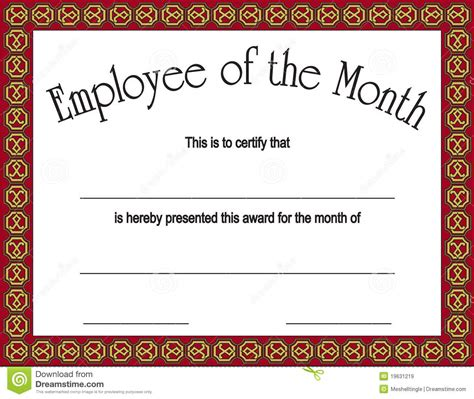 manager of the month certificate template employee of the month award with royalty free stock images