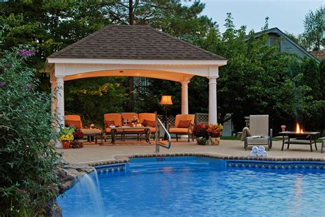 pool gazebo plans renaissance pavilion homeplace structures