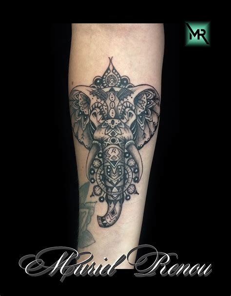 tatouage elephant mandala cristattoo83