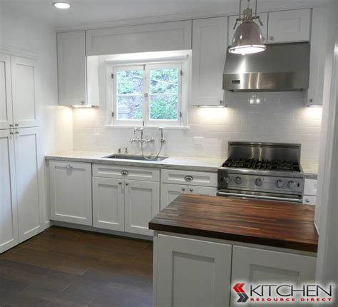 Modern Farmhouse style with white cabinets, cup pulls, and
