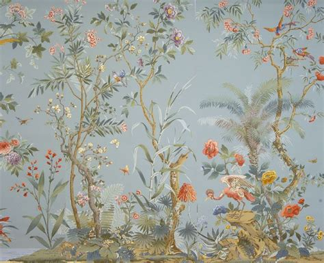 chinoiserie wallpaper uk blue 105 best images about the dolls house mural on pinterest