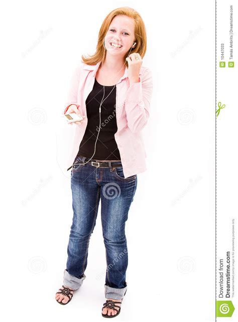 beautiful in white female version mp3 download tenn girl with mp3 player stock photos image 10447033