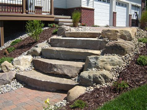 diy limestone pit limestone steps with boulders steps and stairs landscaping front porches and porch