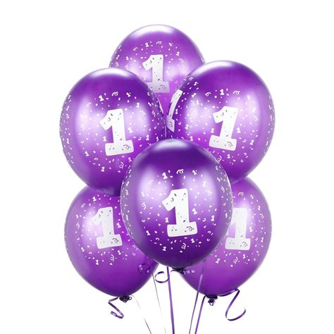 purple 1 balloons birthdayexpress