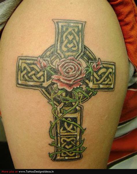 celtic rose tattoo 46 celtic cross tattoos designs