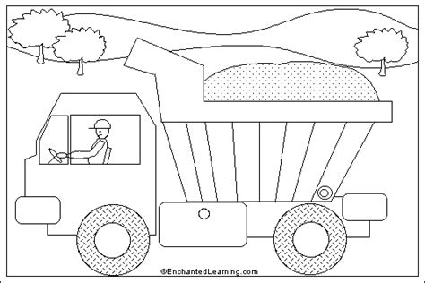 coloring page dump truck dump truck coloring pages