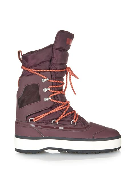 adidas snow boots adidas by stella mccartney nangator snow boots in purple