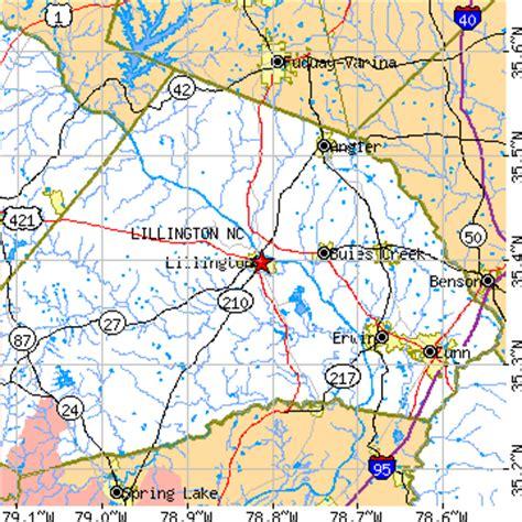 map of carolina lillington lillington