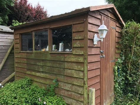 wooden garden shed     whitstable kent