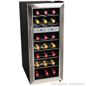 freestanding wine cooler  installed   counter
