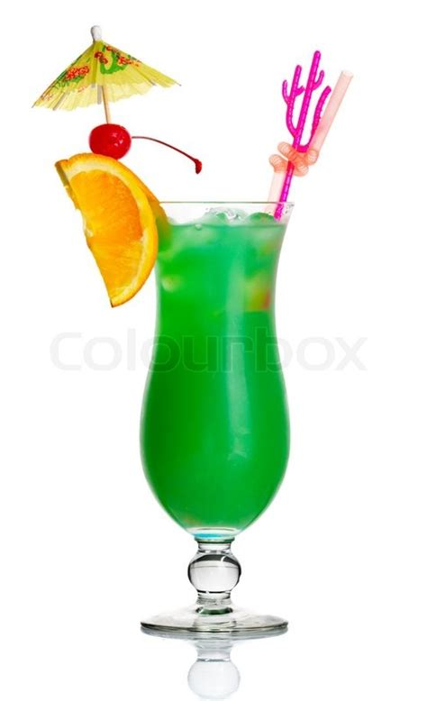 green cocktail png green cocktail with orange slice and umbrella